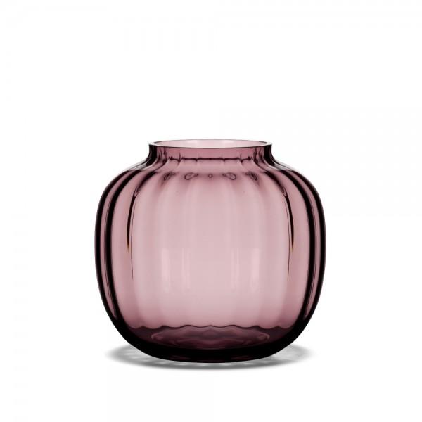 Holmegaard - Primula - Vase - pflaume - ca. 12,5x14,5 cm (HxD) - mundgeblasenes Glas - Jacob E. Bang