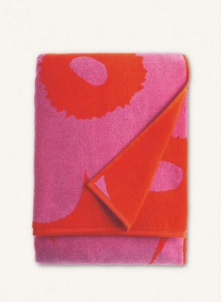 Marimekko - Unikko - Badetuch - Saunatuch - 75x150 cm - rot-pink - Bio-Baumwolle - Maija + Kristina