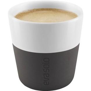 Eva Solo - Espresso-Becher - 2 Stück - 0.08 l - schwarz - Des.:Tools - Porzellan,Silikon
