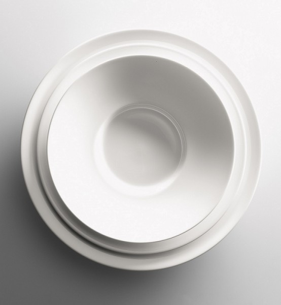 Dibbern - GRAND DINING - Untertasse - Brotteller - ca. 17 cm (D) - weiss - Fine Bone China Porzella