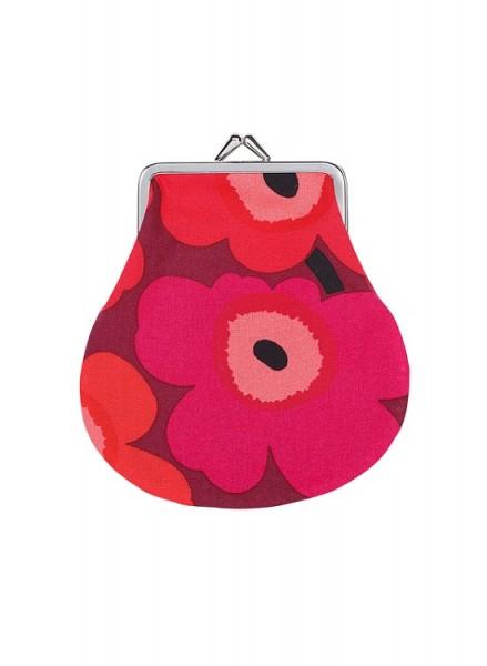 Marimekko - PIENI KUKKARO - MINI UNIKKO - kleine Tasche, Börse - rot, dunkelrot - ca.12x13 cm