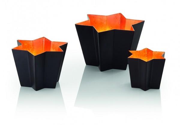 Phillipi - Stella - Windlicht - L - kupfer - ca. 9,5 cm (H) - Stahl, pulverbeschichtet, Blattkupfer