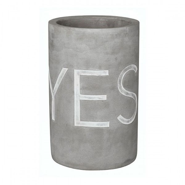 Räder - Vino - Beton Weinkühler - Yes, why not - Ø13,5 x 21,5cm - Poesie et table