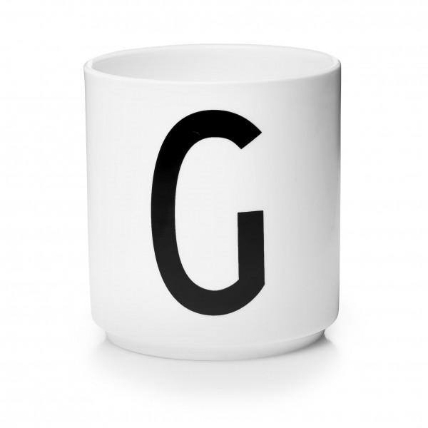 Design Letters - Arne Jacobsen - Porzellan Cup/Becher G - 9,0x8,3 cm (HxØ)