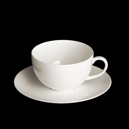 Dibbern - Classic - Cafe au lait - Obertasse - 0,32l - weiss - Fine Bone China Porzellan