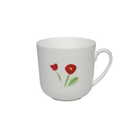 Dibbern - Classic - Becher mit Henkel - 0,32 l - Impression - Blume - rot