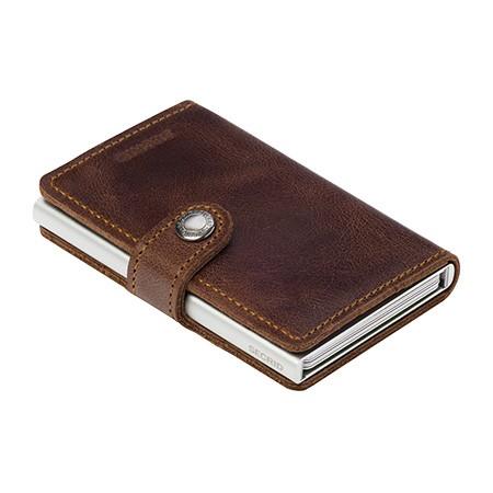 Secrid - Miniwallet Vintage - brown,braun - Schutz für Magnetkarten, EC-Kreditkarten - Leder, Alumin