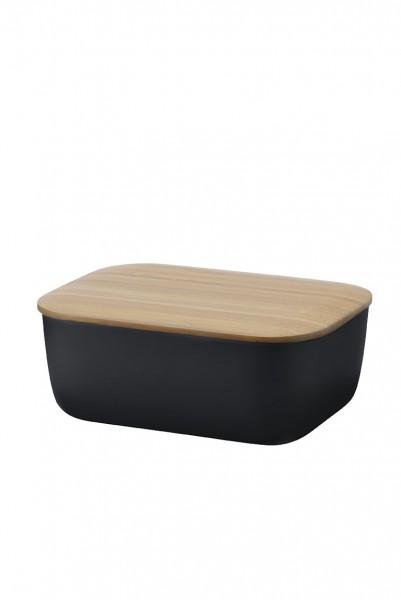 RigTig by Stelton - BOX-IT - Butterdose - schwarz - ca. 15x11,5x6,5 cm(LxBxH)