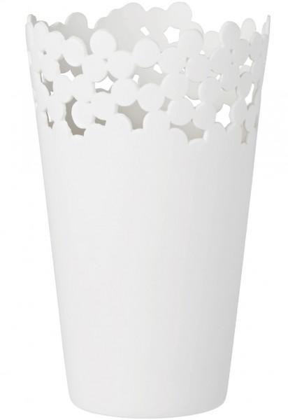 Räder - WEISSheiten - Vase - Punkte - weiß - ca. 18x10,5 cm (HxD) - Porzellan