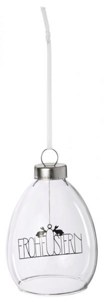 Räder - Gefüllte Glas-Kugel zum Hängen - Frohe Ostern - Ø 6,5x9 cm