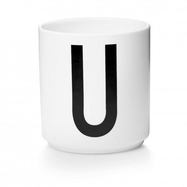 Design Letters - Arne Jacobsen - Porzellan Cup/Becher U - 9,0x8,3 cm (HxØ)