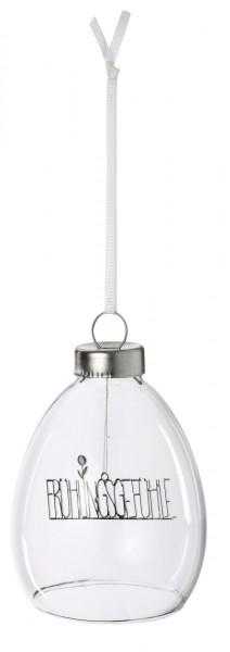 Räder - Gefüllte Glas-Kugel zum Hängen - Frühlingsgefühle - Ø 6,5x9 cm