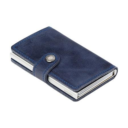 Secrid - Miniwallet Vintage - blue, blau - Schutz für Magnetkarten, EC-Kreditkarten - Leder, Alumini