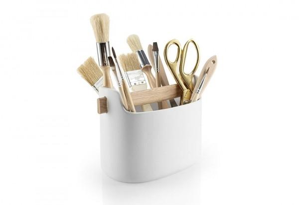 Eva Solo - Toolbox, niedrig - weiß - ca. 225x125x150 mm - Keramik, Eiche