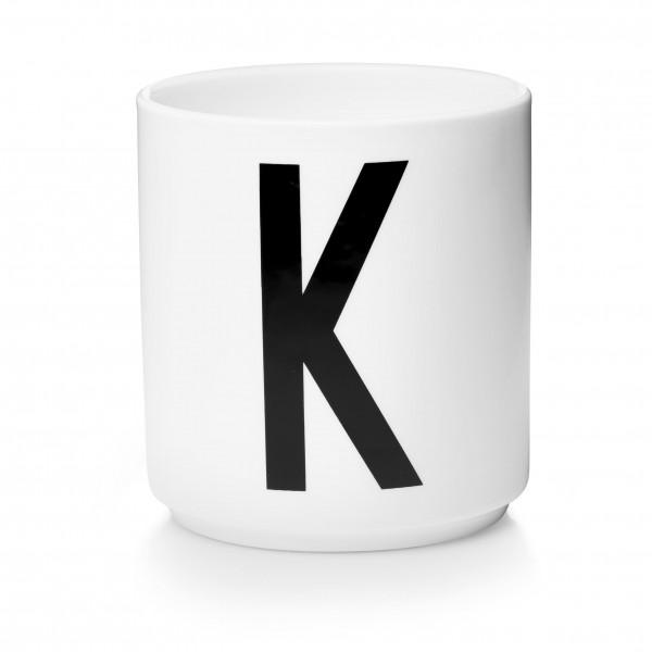 Design Letters - Arne Jacobsen - Porzellan Cup/Becher K - 9,0x8,3 cm (HxØ)