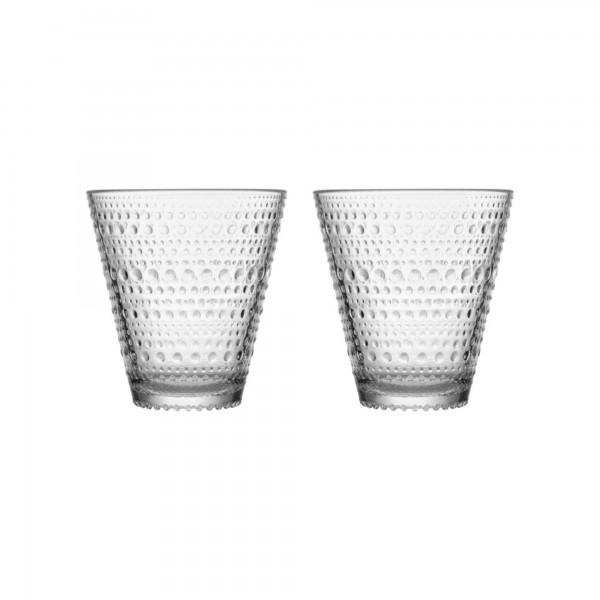 iittala - Kastehelmi - Glas - 30cl - Grau - 2 Stück - Des.: Oiva Toikka