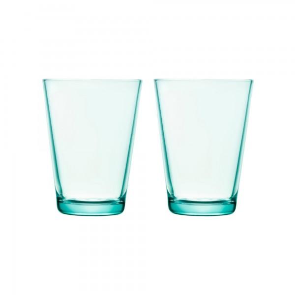 iittala - Kartio - Glas - 40 cl - wassergrün - 2 stück - Des.: Kaj Franck