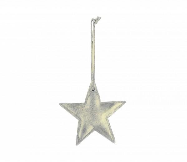 Philippi - Lax - Anhänger - Stern - grau-gold - Vintage Leder - handgenäht
