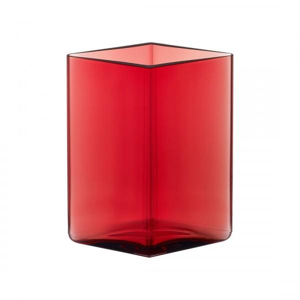 ittala - Ruutu Vase - 115 x 140 mm (BxH) - Cranberry