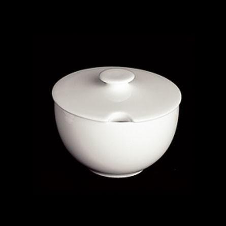 Dibbern - CLASSIC - Zuckerdose - rund - 0,25l - weiss - Fine Bone China