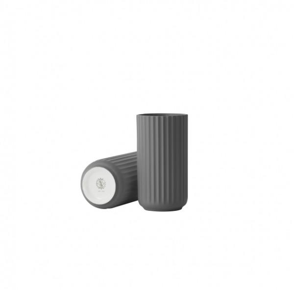 Lyngby - Vase - 15cm - dunkelgrau - ca.15x8x8 cm - Porzellan