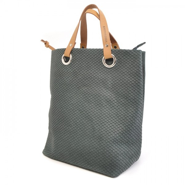 Berba - Stretto - Shopper - Tasche - flaschengrün - ca. 37x33cm (BxH) - Echt Wildleder