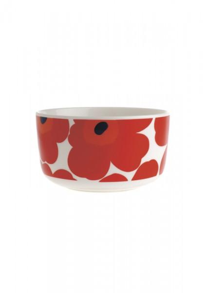 Marimekko - UNIKKO - Schale - 0,5 l - weiß-rot