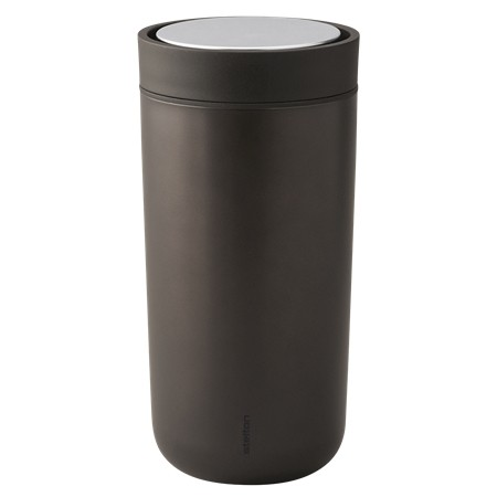 Stelton - To Go Click, 0.34 l. - Isolierbecher - dunkelbraun,metallic - D8,3x17cm