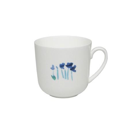 Dibbern - Classic - Becher mit Henkel - 0,32 l - Impression - Blume - blau
