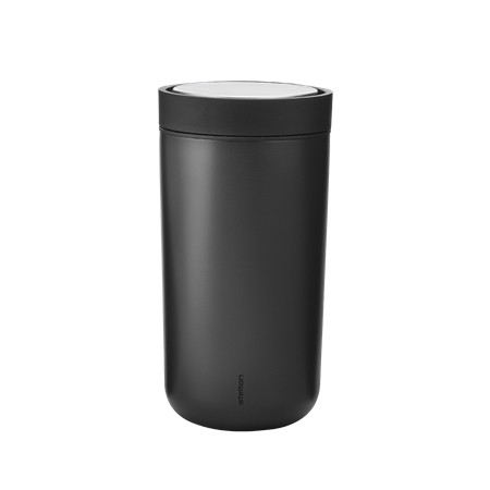 Stelton - To Go Click, 0,2 l. - Isolierbecher - schwarz,metallic - D9x15,5cm