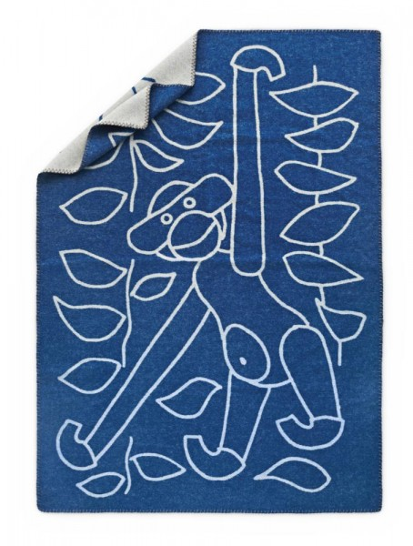 Kay Bojesen - Decke, blau-weiß - 120x80 cm - Lammwolle, jacquard gewebt