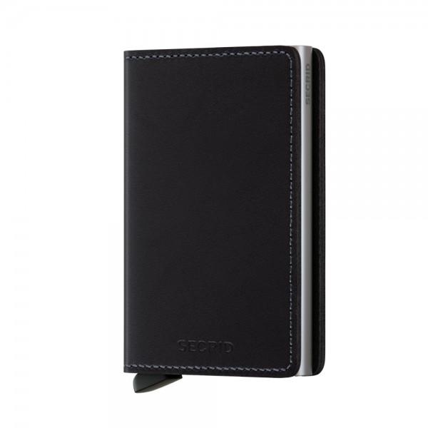 Secrid - Slimwallet - Original - black,schwarz - Schutz für Magnetkarten, EC-Kreditkarten - Leder, A