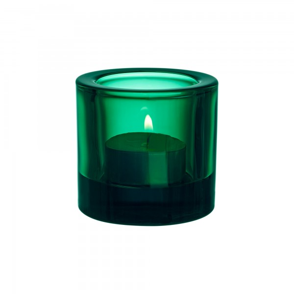 iittala - Kivi - Windlicht + Kerzenhalter - 60 mm - emerald, smaragd - Des.: Heikki Orvola