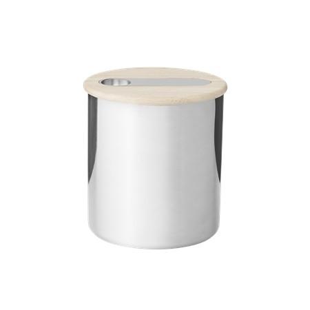 Stelton - Scoop - Teedose mit Löffel - 0.3 l. - ca. 13x14 cm (ØxH) - Edelstahl