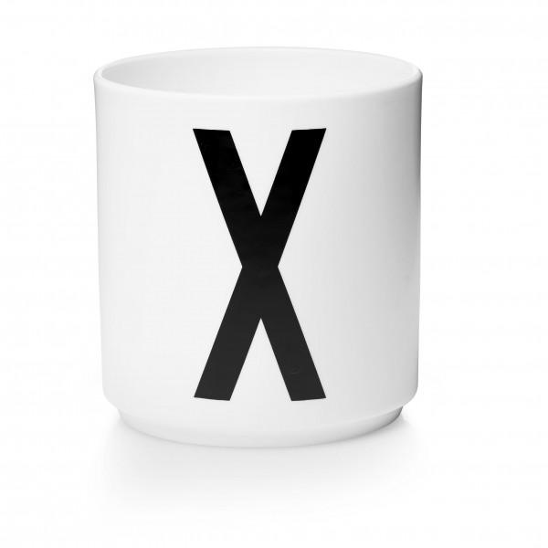 Design Letters - Arne Jacobsen - Porzellan Cup/Becher X - 9,0x8,3 cm (HxØ)