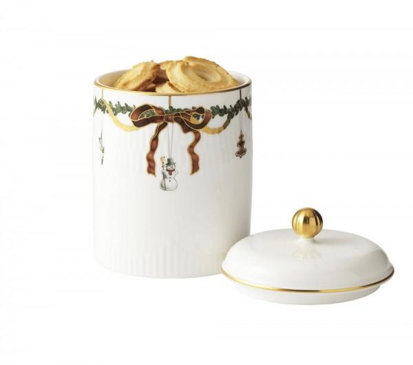 Royal Copenhagen - STAR FLUTED - Dose mit Deckel - ca. 16x12 cm (HxØ) - Bone China Porzellan,handbem