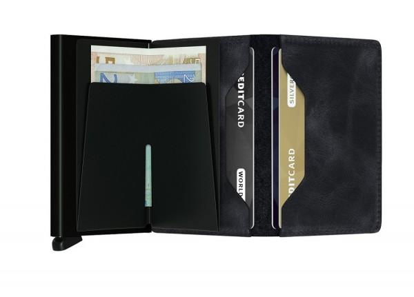 Secrid - Slimwallet - Vintage - black,schwarz - Schutz für Magnetkarten, EC-Kreditkarten - Leder, Al