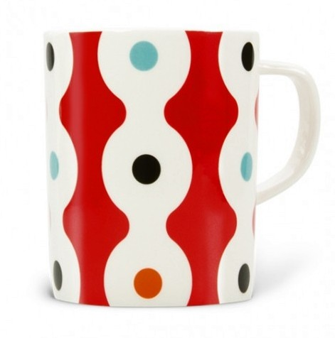 Remember - Tasse, Henkelbecher - Dots - Fine Bone China Porzellan - 9,5 x Ø 7,9 cm