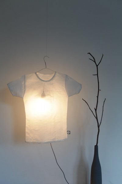 Good old friends - T-Shirt Lampe - Blanco - ca. 70x62 cm
