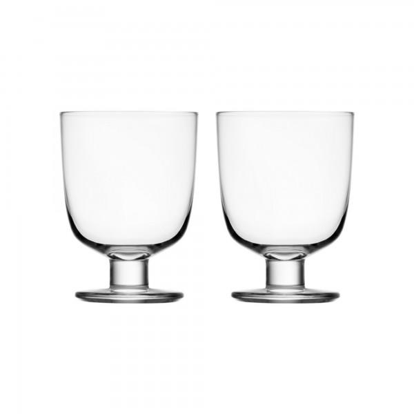 iittala - Lempi - Glas - 34 cl - Klar - 2 stück - Des.: Matti Klenell