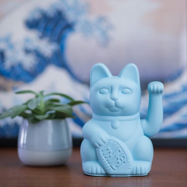 Donkey - Lucky Cat - Winkekatze - blau - ca. 8,5x7x15 cm (LxBxH)