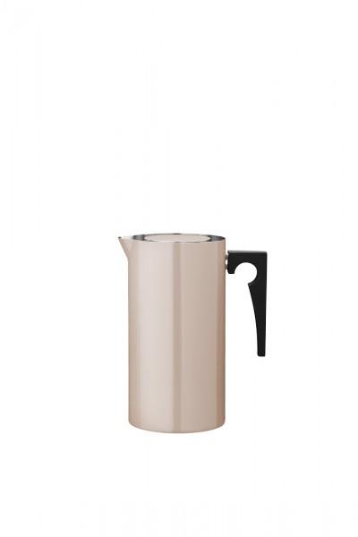 Stelton - Arne Jacobsen - Cylinda-Line - Pressfilterkanne 1 l. - powder - Edelstahl, Emaille - Ø13x3