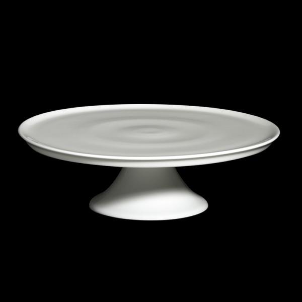 Dibbern - Classic -Tortenplatte auf Fuß - Ø 32 cm - Fine Bone China Weiß