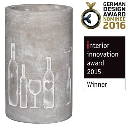 Räder - Poesie et table - Vino - Beton Flaschenkühler - Vino, Flaschen + Glas -&nb
