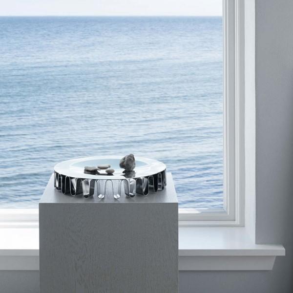 Georg Jensen - Frequency - Schale - Centerpiece - ca. 61x350 mm (HxD) - Edelstahl poliert - Des.: Ke