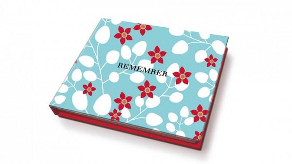 Remember - Memolino - Primavera - ca. 11x9,5x1,7cm - 200 Haftetiketten, 1 Kugelschreiber