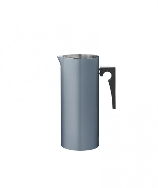 Stelton - Arne Jacobsen - Cylinda-Line - Kanne mit Eislippe 2,0 l - ocean blue - Edelstahl, Emaille